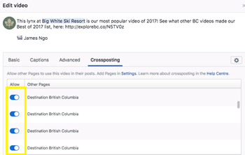 Facebook Crossposting 101: Share Your Video 1
