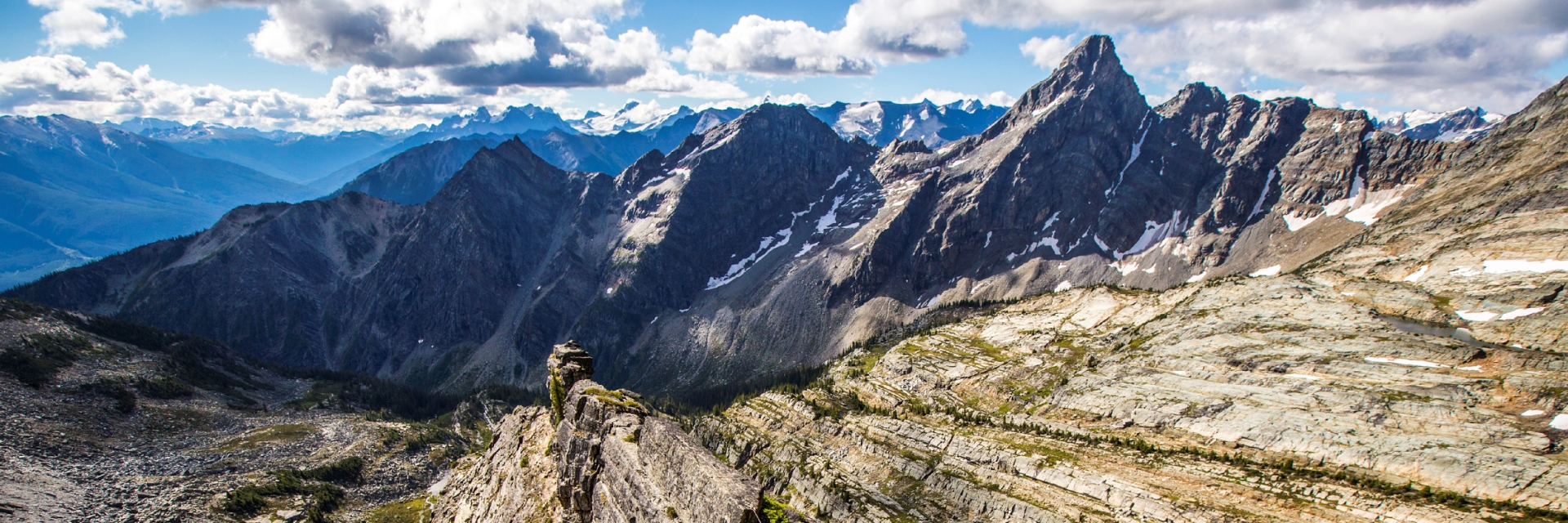 A mountain range in British Columbia.