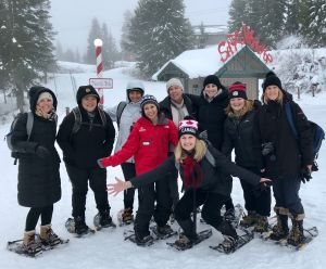 Product Managers snow shoeing Grouse Mountain.