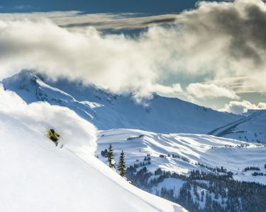 Skiing on Whistler Blackcomb