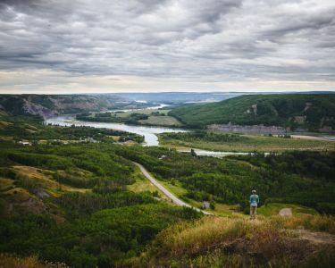 Valley of Fort St.John along the Alaska Highway