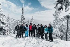 Snowshoeing in The Rossland Range Recreation Site