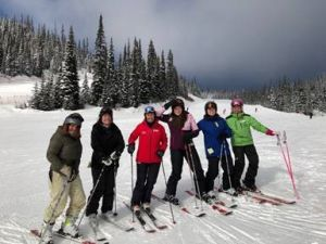 Nancy Greene joined the group for a day on the slopes